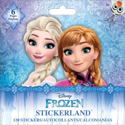 Frozen Stickerland Book - 120 Stickers, 6 Pages