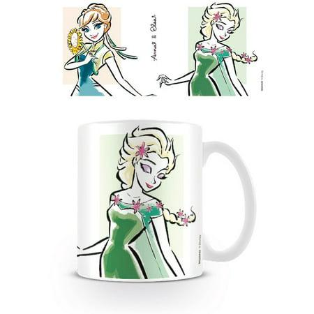 Frozen - Ceramic Disney Coffee Mug / Cup (Anna & Elsa - Drawing)