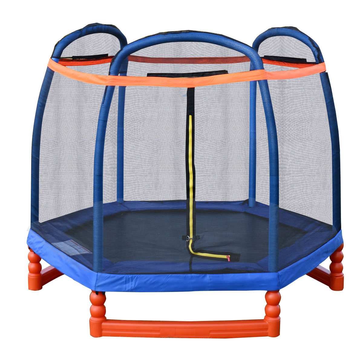 Costway 7ft Trampoline Combo W Safety Enclosure Net