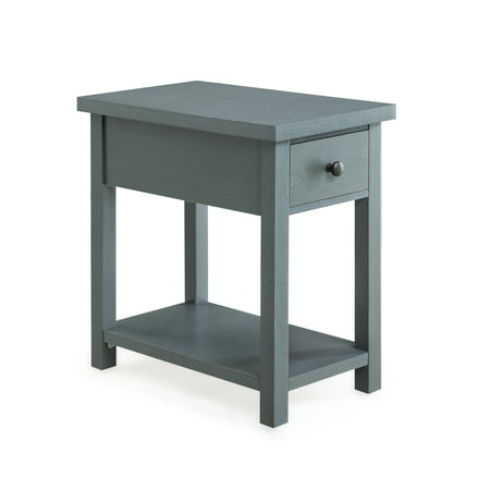 Better Homes and Gardens Oxford Square End Table With Drawer, Available in Blue or Red ()