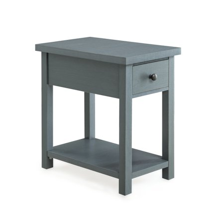 Better Homes and Gardens Oxford Square End Table With Drawer, Available in Blue or - Living Room Square End Table