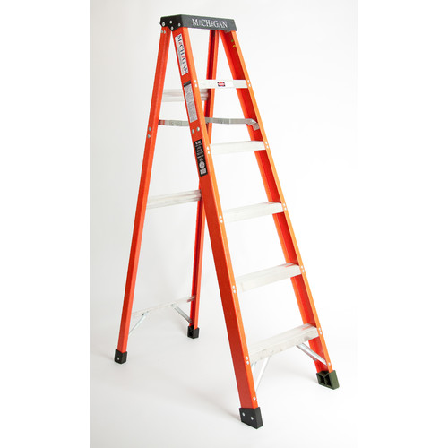 Michigan Ladder 3.17 ft Fiberglass Step Ladder with 300 lb. Load Capacity
