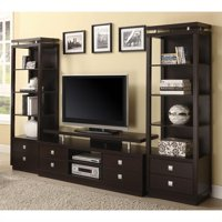 Coaster TV Console and 2 Media Towers in Cappuccino