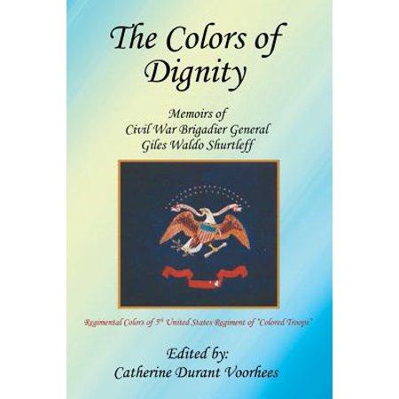 The Colors of Dignity : The Memoirs of Civil War Brigadier General Giles Waldo