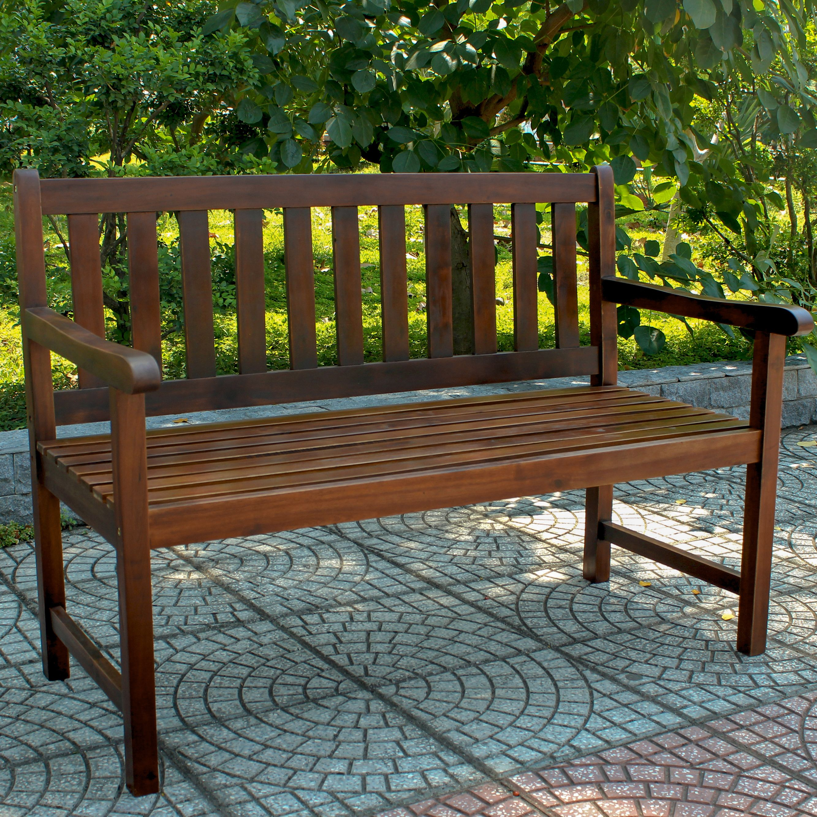 Highland Acacia Wood 49-inch Bench