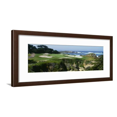 High Angle View of a Golf Course, Cypress Point Golf Course, Pebble Beach, California, USA Framed Print Wall Art
