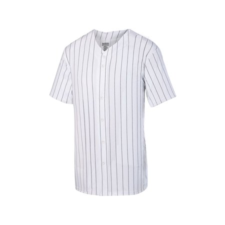 Baseball Mini Jersey (Augusta Sportswear Men's Pinstripe Full Button Baseball Jersey)