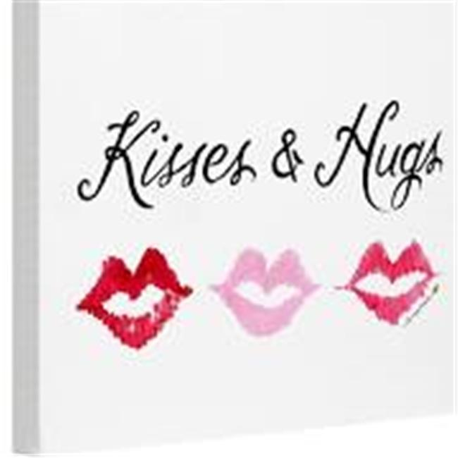One Bella Casa 74447WD8 8 x 10 in. Kisses & Hugs Canvas Wall Decor by Timree, Multicolor