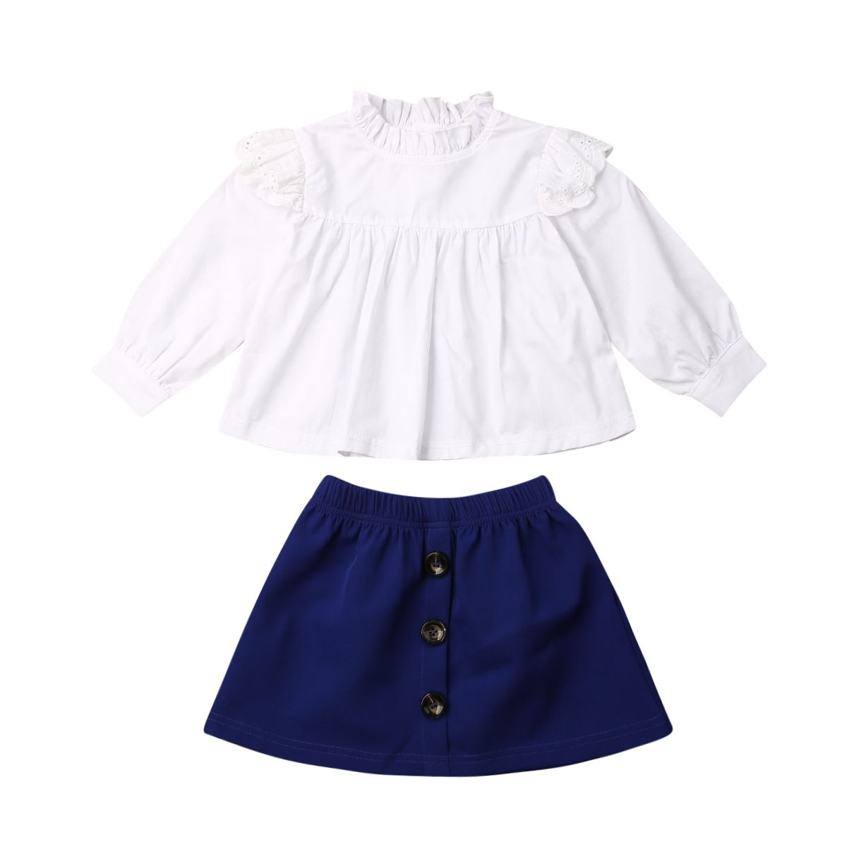 3 piece toddler top Size 2T. skirt and shorts set