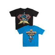 DC Comics Superman Boys 4-18 Neon & Weekend Ready Graphic T-Shirts 2 Pack