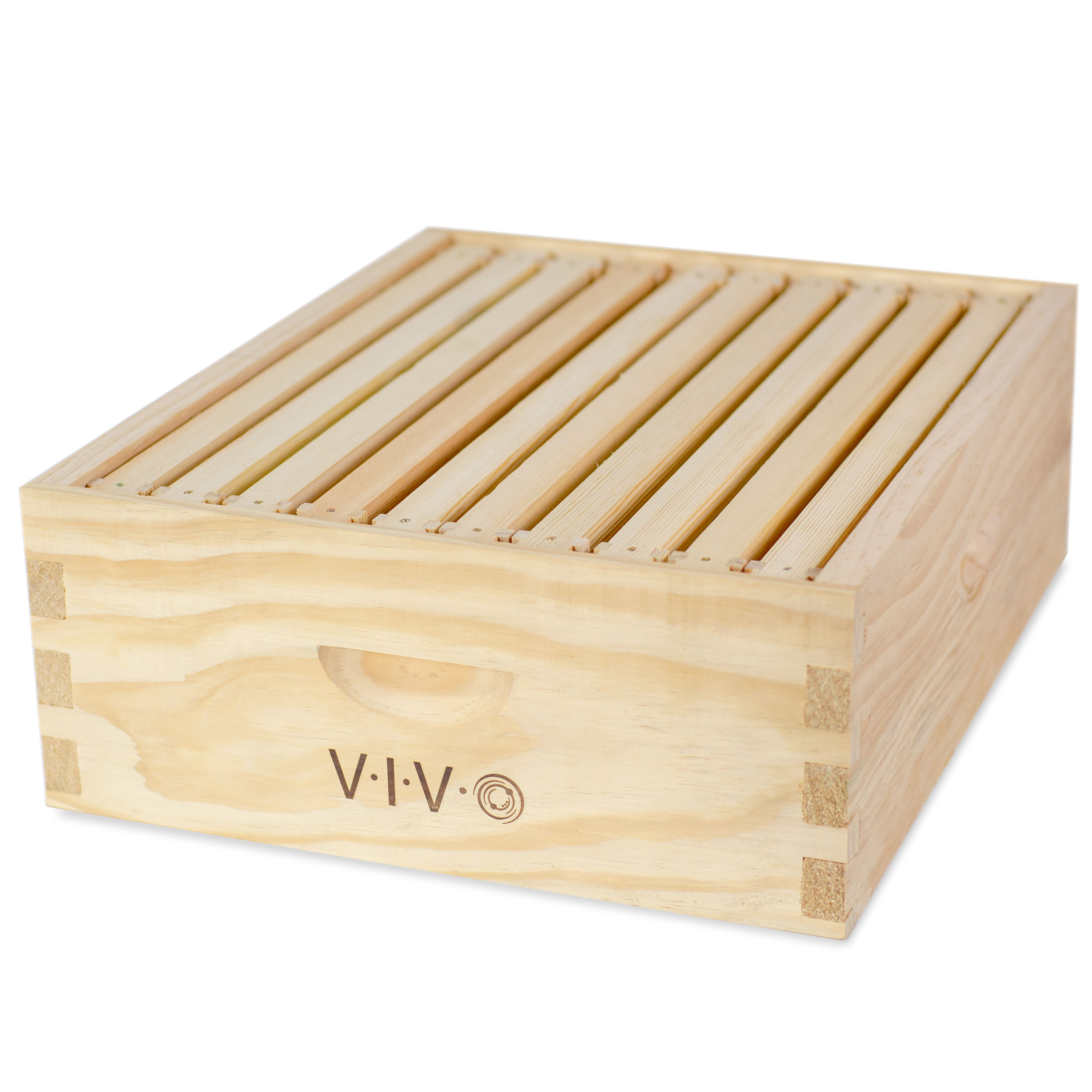 VIVO Beekeeping Add-on Shallow Super Beehive Box Kit with 10 Frames for Langstroth Bee Hive (BEE-HV02)