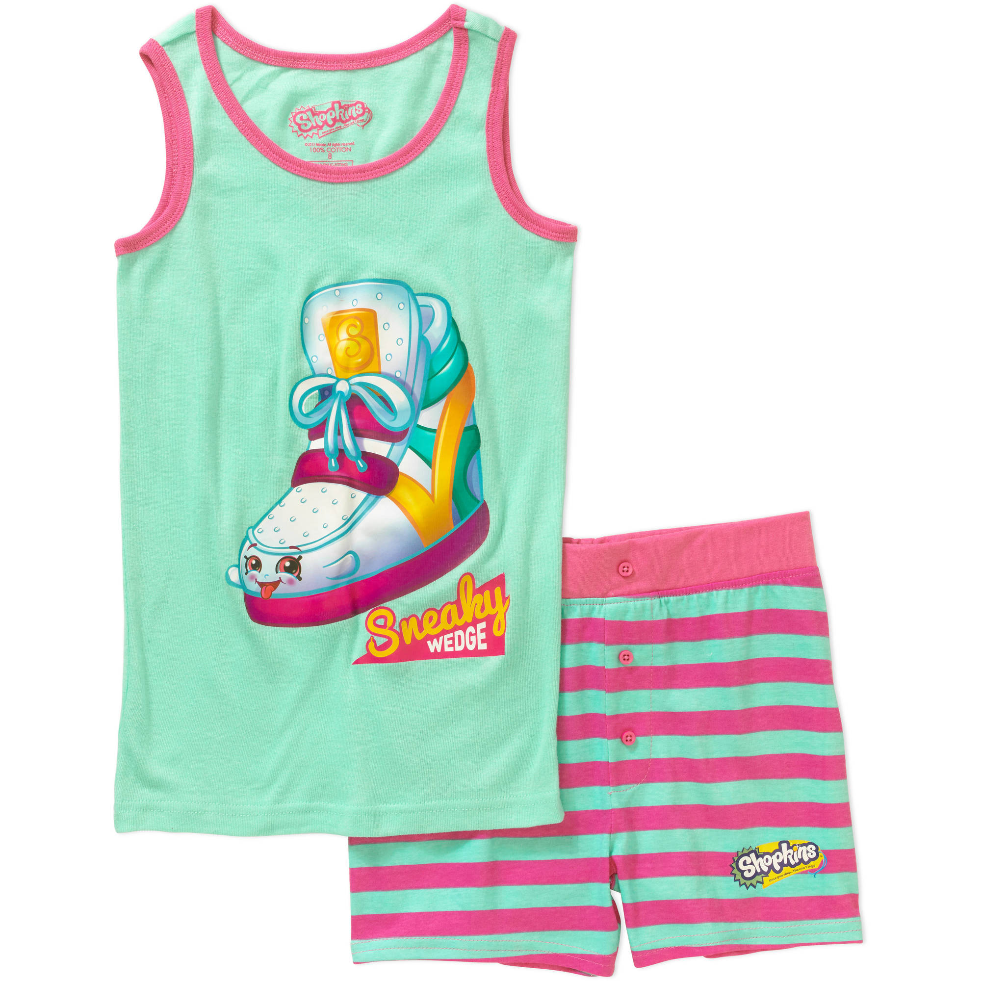 Shopkins Girls' Sneaky Wedge Tank Sleepwear Set