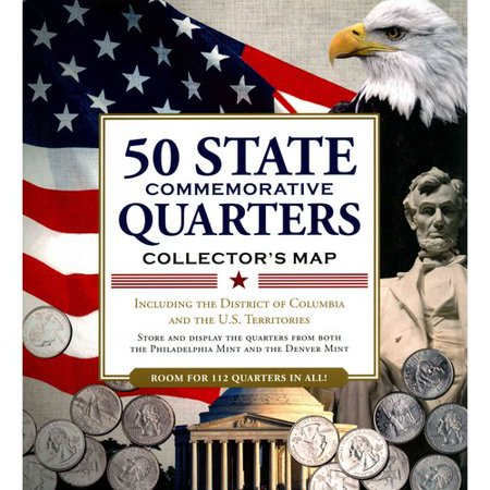 50 State Quarters Collector Map by