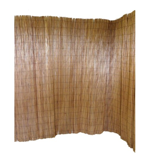 Incroyable Master Garden Products Peeled Willow Screen Fence, 8 By 8 Feet, Light  Mahogany