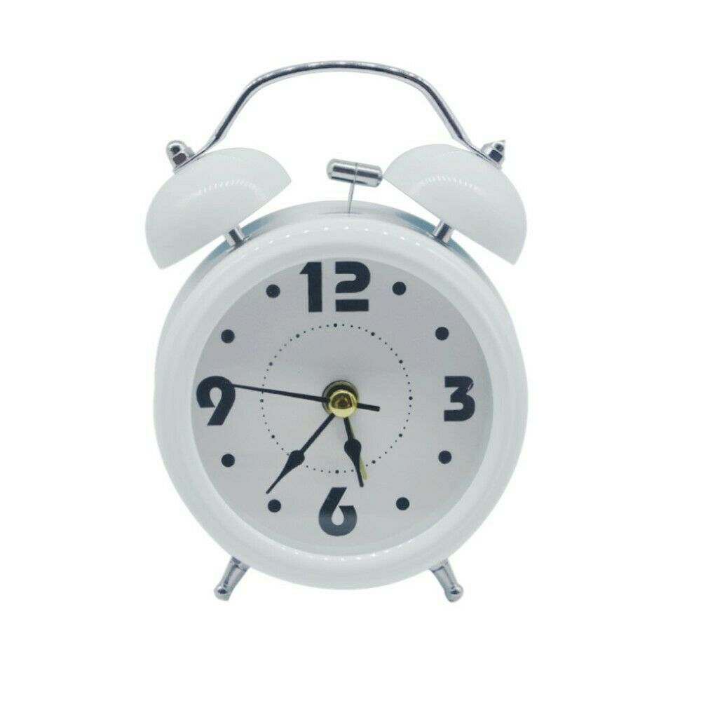 Living Room Loud Twin Bell Alarm Clock Analogue with Battery Operated Invotis XL Traditional Retro Alarm Clock ROSE GOLD Study Room Desk//Floor Clock for Bedroom