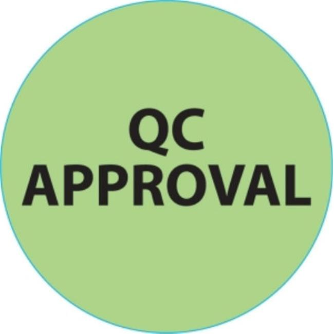 Ace Label 66880F 2 inch Circle Qc Approval