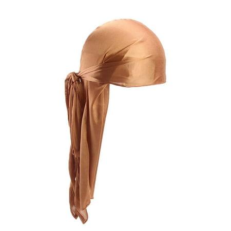 Silver Bandana (Men/Women Silk Polyester Bandana Hat Durag Rag Tail Headwrap Headwear)