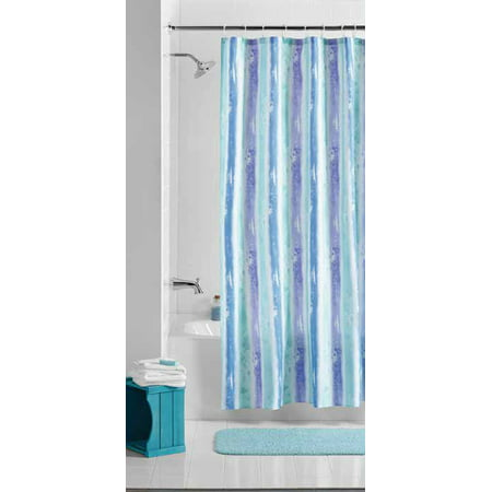 Mainstays Embossed Stripe Fabric Shower Curtain 1 Each