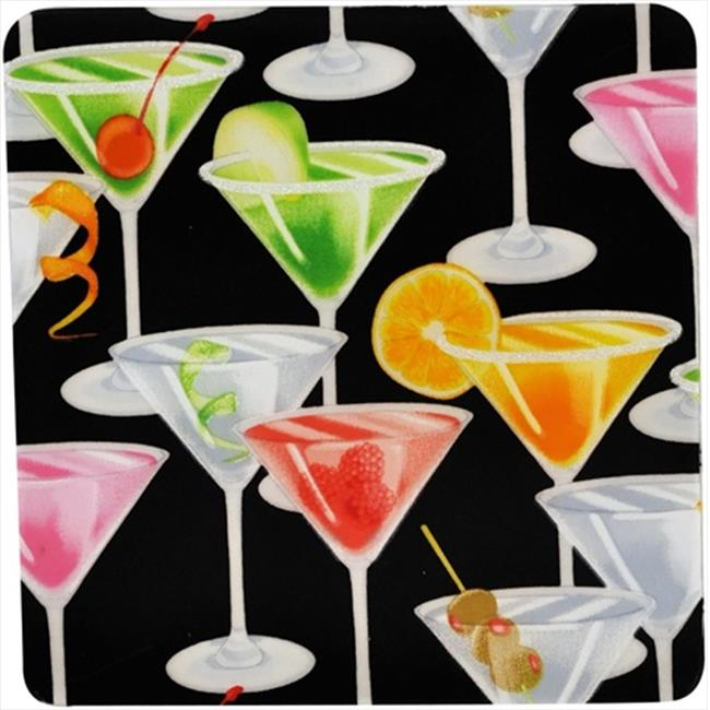 Andreas TRS-243 8. 25 inch Martini Square Silicone Trivet - Pack of 3