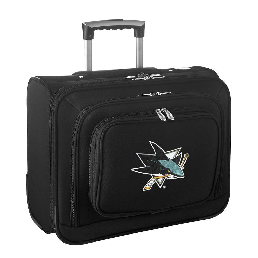 Denco NHL Wheeled Laptop Overnighter, San Jose Sharks by Mojo Licensing