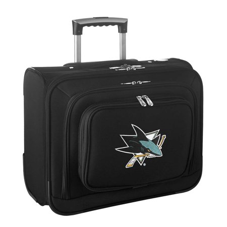 Denco NHL Wheeled Laptop Overnighter, San Jose Sharks