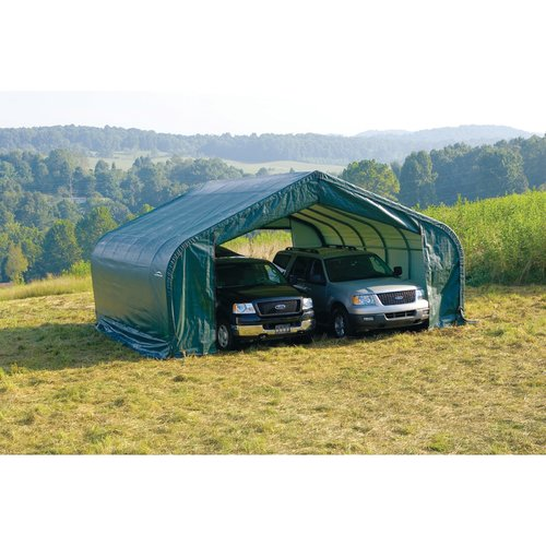 22' x 28' x12' Peak Style Shelter, Green
