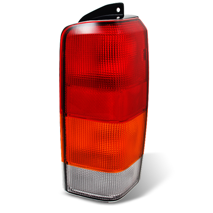 Fit 97 01 Cherokee Red Amber Taillights Brake Lamp Replacement Passenger  Side