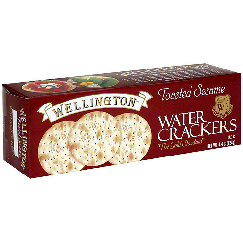 Wellington Toasted Sesame Water Crackers, 4.4 oz, (Pack of 12)