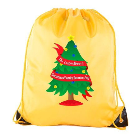 Christmas Tree Banner with custom name- Family Reunion Party Favor Bags](Christmas Party Names)