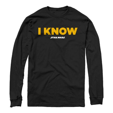 Star Wars Men's Han Solo I Know Long Sleeve T-Shirt