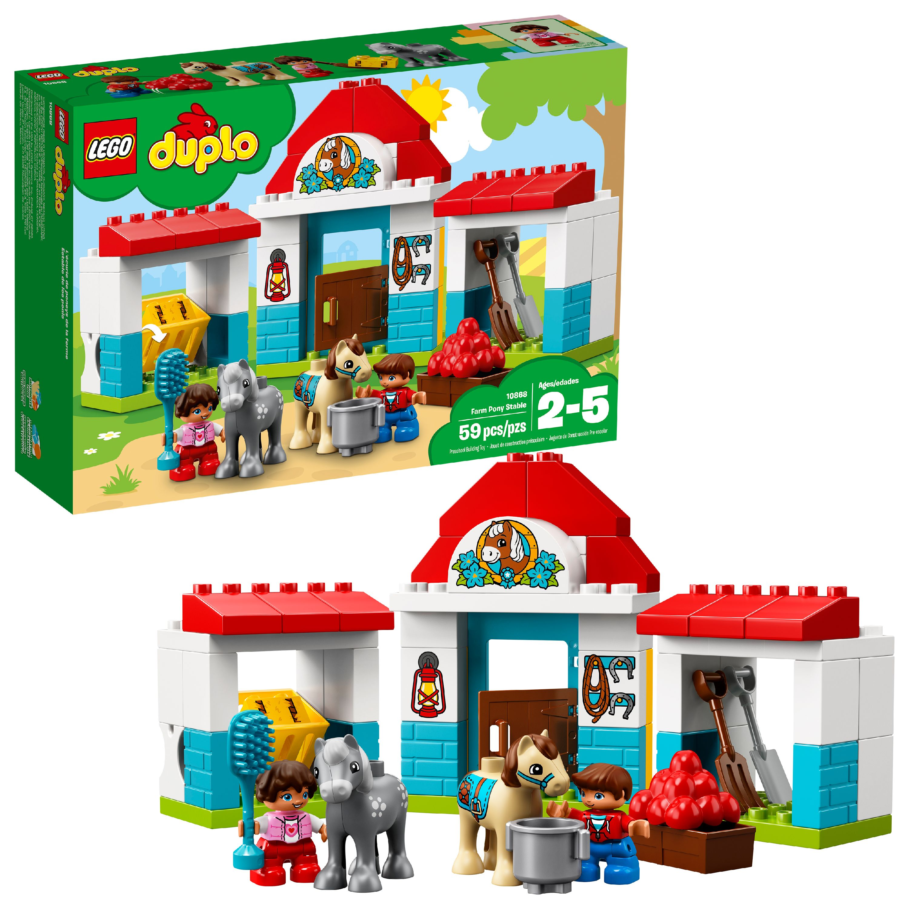 LEGO DUPLO Town Farm Pony Stable 10868 (59 Pieces)