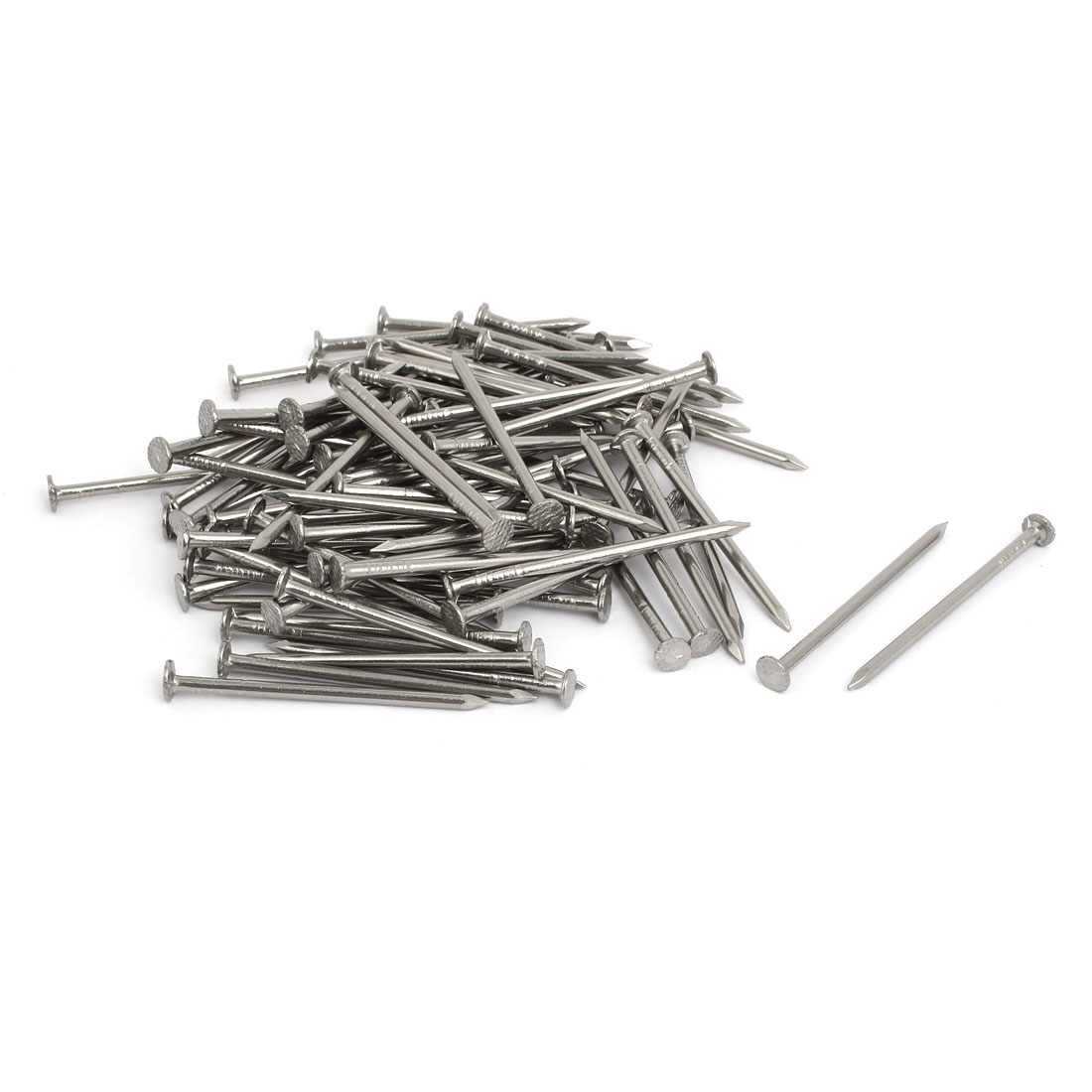 2 Inch Length 316 Stainless Steel Cement Wood Sliding Nail Silver Tone 80pcs