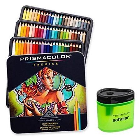 Prismacolor Premier Soft Core Colored Pencil  Set Of 72 Assorted Colors   Scholar Colored Pencil Sharpener