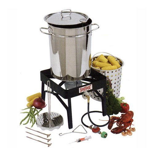 Bayou Classic Stainless Steel Outdoor Turkey Fryer Kit - 32 qt.