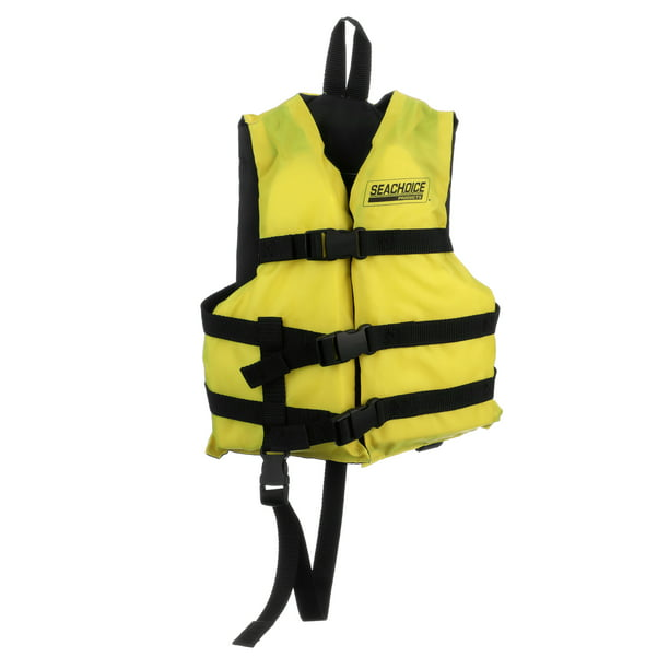 Seachoice 86510 Type Iii Life Jacket Adjustable General Purpose Vest Bright Yellow Child 30 To 50 Pounds Walmart Com Walmart Com