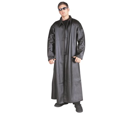 Detective Trench Coat Costume (Detective-Black Coat-Std Adt)
