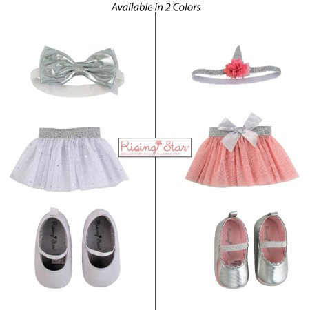 - Rising Star Baby Girls Headband, Shoes, and Tutu Set, 0-12 Months