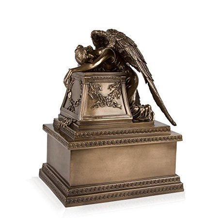 - Perfect Memorials Bronze Finish Weeping Angel Cremation Urn Medium