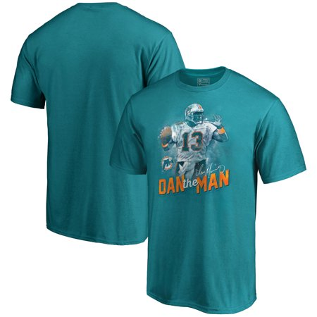 Dan Marino Miami Dolphins NFL Pro Line Retired Player Illustration Name & Number T-Shirt - (Marino Miami Dolphins Nfl Football)