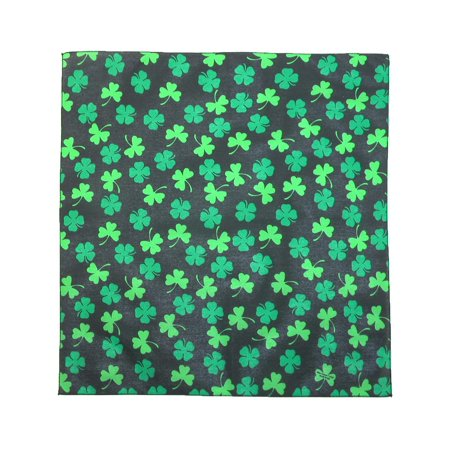 Cow Print Bandana (Size one size St. Patricks Day Shamrock Print Bandana,)