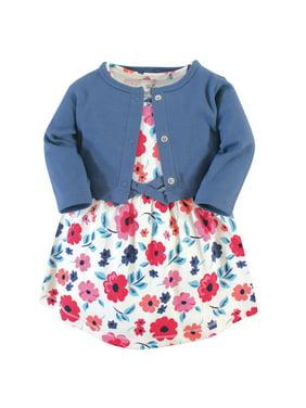 Organic Dress and Cardigan Outfit Set, 2pc (Toddler Girls)