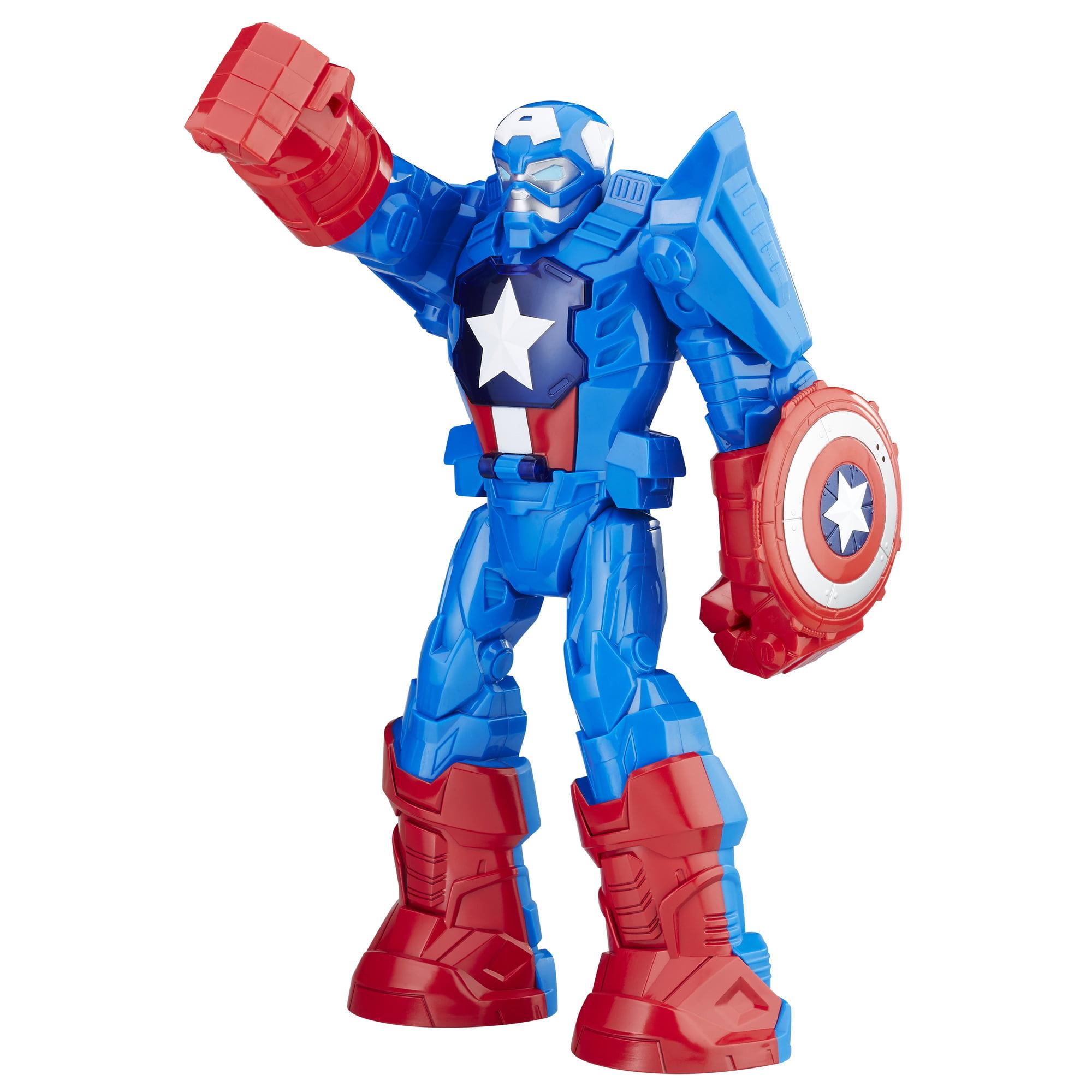 Playskool Heroes Marvel Super Hero Adventures Mech Armor Captain America by Hasbro