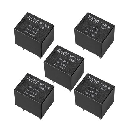 DC5V Coil 5Pin PCB Electromagnetic Power Relay XHT78-ZS 10A 120V AC 5Pcs