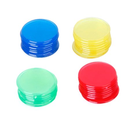 400pcs 4 Colours 3/4 Inch Pro Count Bingo Chips Markers for Bingo Game Cards Magnetic Bingo Markers