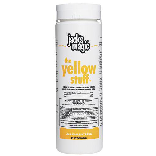 Jack's Magic JMYELLOW2 The Yellow Stuff Pool Algaecide, 2-Pound