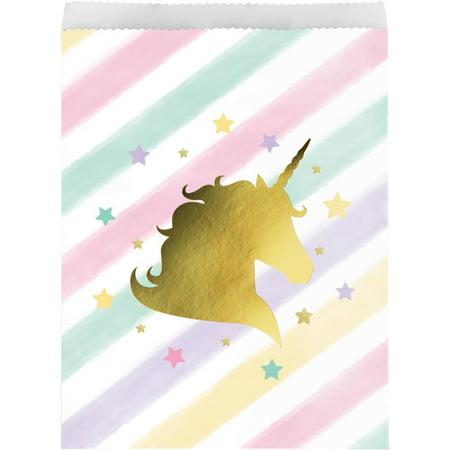 Creative Converting Sparkle Unicorn Treat Bags, 10 ct