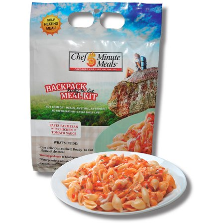 Chef 5 Minute Meals- Self-heating Chicken Pasta Parmesan (Backpack)- 2