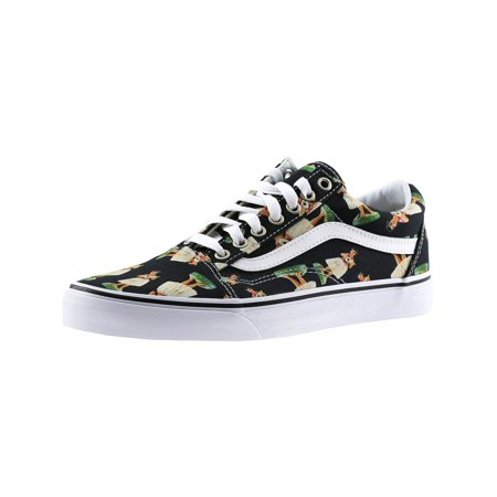 530beb20f0 Vans Old Skool Digi Hula Black True White Ankle-High Canvas Skateboarding  Shoe ...