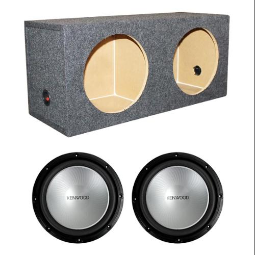 "2)  Kenwood KFC-W12PS 12"" 2000W Car Subwoofers KFCW12PS + Dual Sealed Sub Box"