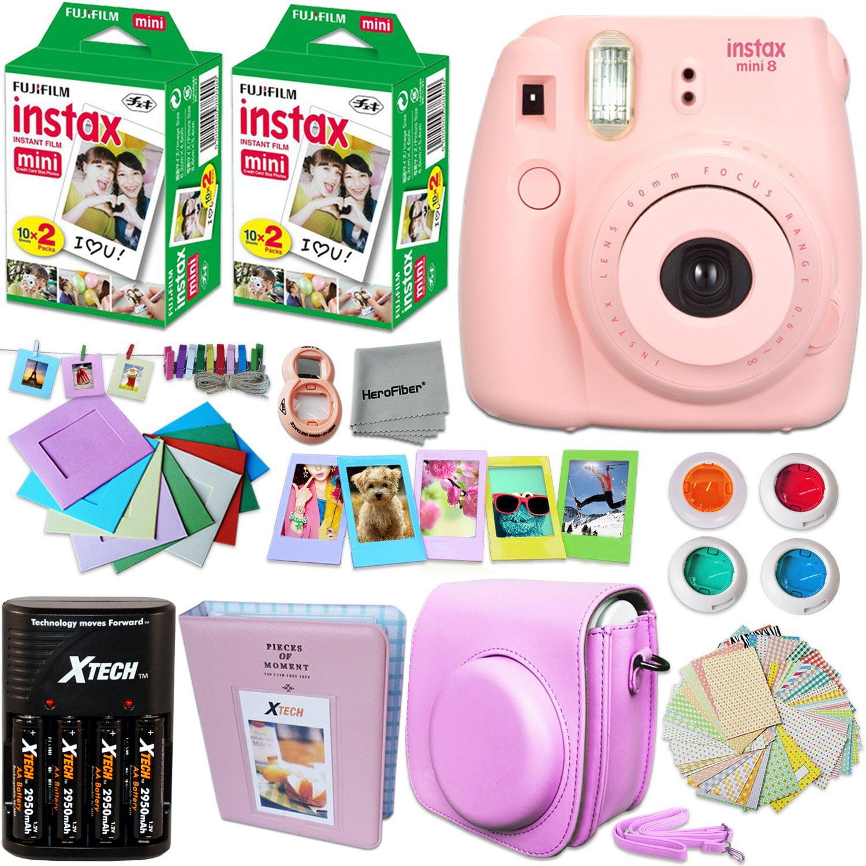 FujiFilm Instax Mini 8 Camera PINK + Accessories KIT for ...